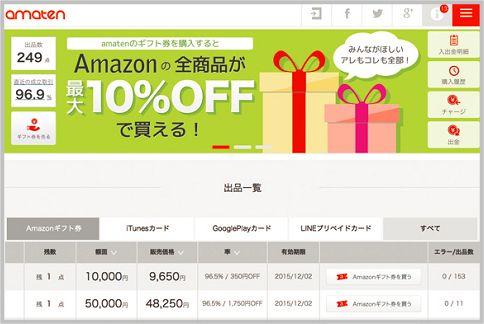 Amazonギフト券の使い方で得する
