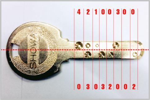 ディンプルキーの合鍵を画像から自作