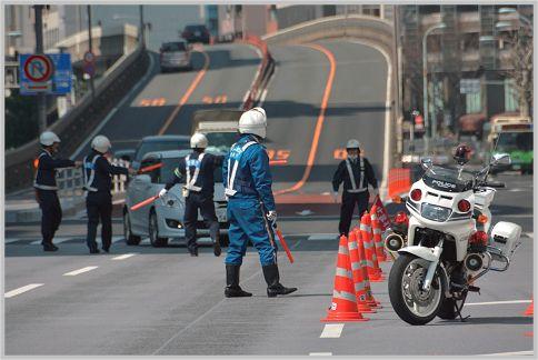 スピード違反取り締まり現場