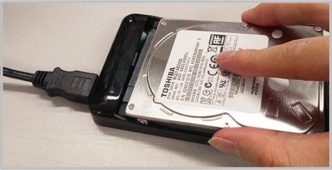 ハードディスクケースにパスロック