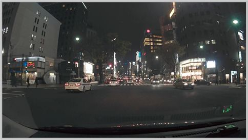 DrivePro200の画像は夜間でも緻密な印象
