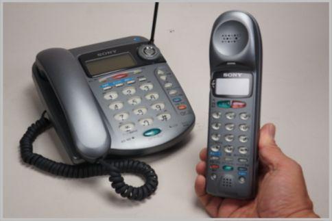 コードレス電話機は親機側の周波数をサーチ