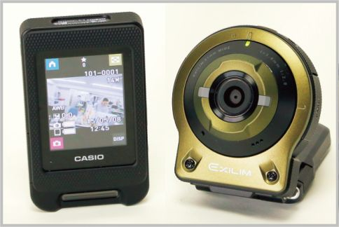 EX-FR10はカメラ部を分離して遠隔撮影もできる