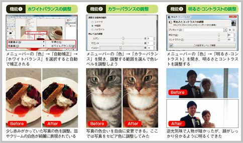 GIMPの使い方は6つの補正機能が基本中の基本
