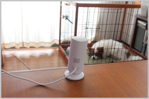 ペットカメラは広角撮影ができる「Smart Pole」