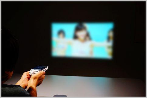 iPhoneプロジェクターは最大60インチで投影