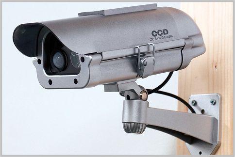 防犯カメラのダミーは死角のカバーに利用する