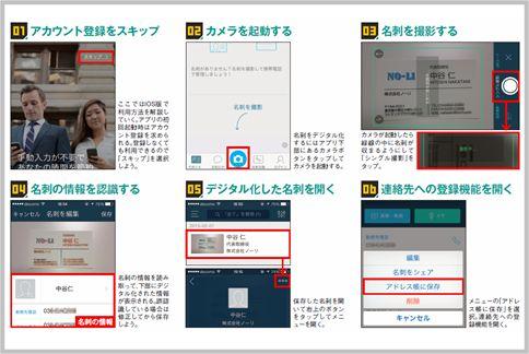 名刺管理アプリ「CamCard Lite」は精度が高い