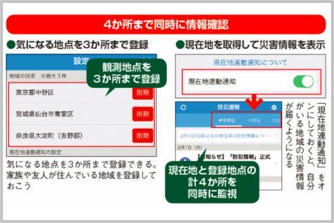 災害情報の通知アプリなら「Yahoo!防災速報」