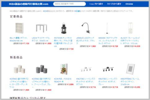 IKEAの家具を通販で買うなら比較サイトを活用