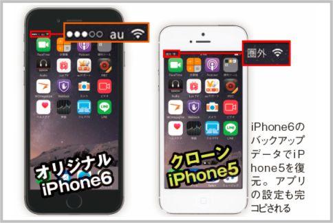 クローンiPhoneの作り方を実際に検証した結果