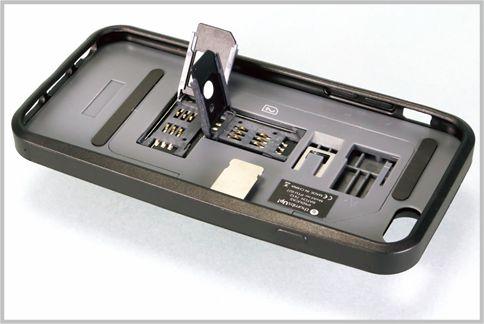 iPhoneでSIMカードをデュアル使いできるケース