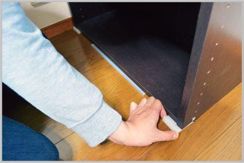 家具の転倒防止は100均の安定板を2枚使いする