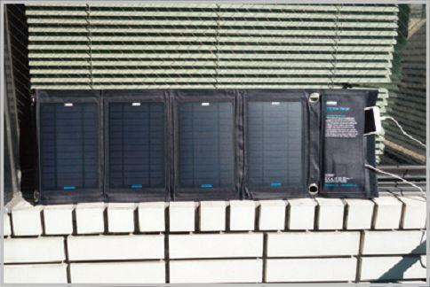 ソーラーパネルがA4以下のサイズに折り畳める