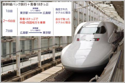 青春18きっぷは新幹線ホテルパックと組合わせる