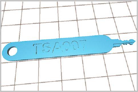 TSAロックのマスターキーを3Dプリンターで出力