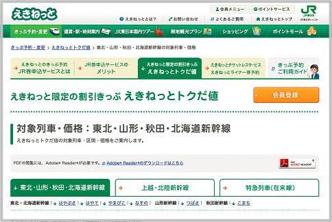 新幹線を割引料金で乗るならこのサイトで買う