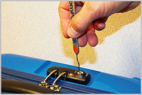 TSAロックのセキュリティを解除ツールで検証