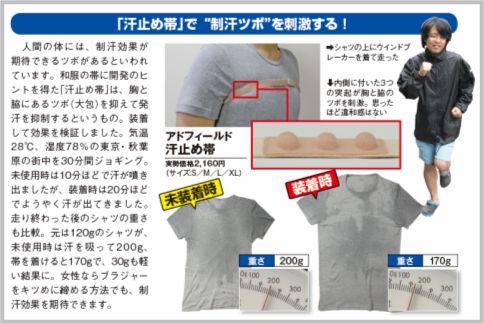 汗をかかない方法「汗止め帯」は制汗ツボを刺激