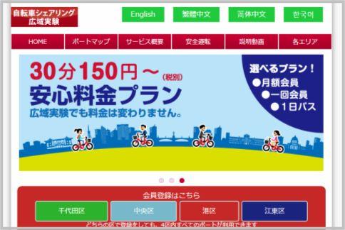 レンタサイクルで東京都内の有名観光地を巡る
