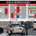 月末は左側追い越しなど小さい交通違反に注意