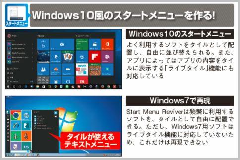 Windows7にWindows10同等の機能を移植する