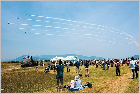 航空祭でブルーインパルスの交信を受信する方法