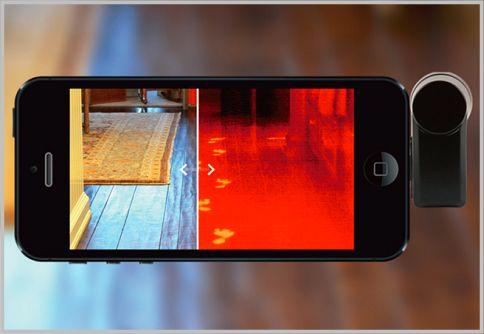 サーモグラフィ撮影でスマホを暗視カメラにする