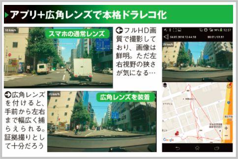 ドライブレコーダーはアプリ+広角レンズで代用