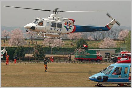 防災ヘリの活動状況が把握できる防災無線移動系
