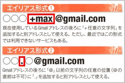 Gmailのアドレス追加が無限にできるエイリアス