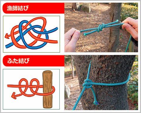 ロープの結び方の基本は知っていて損はないはず