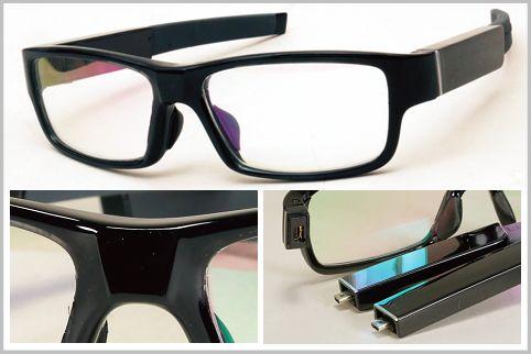 メガネ型カメラは予備テンプルが予備バッテリー