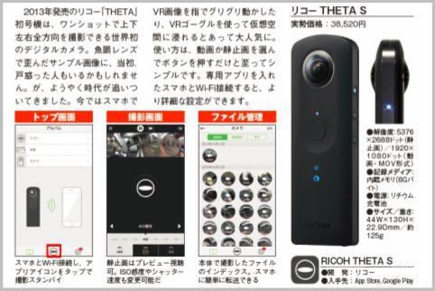 「THETA S(シータS)」がVRカメラとして大人気