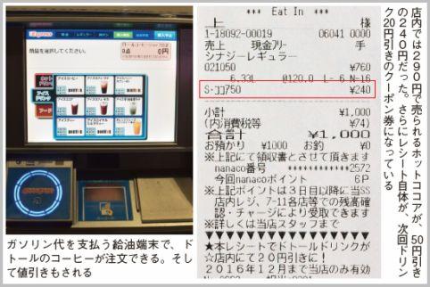 ドトールコーヒーのメニューを50円引きで買う