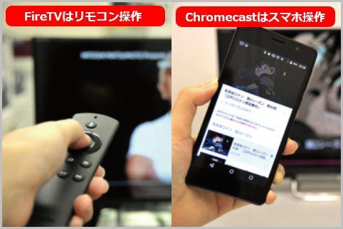 FireTVとChromecastはココが大きく違っている