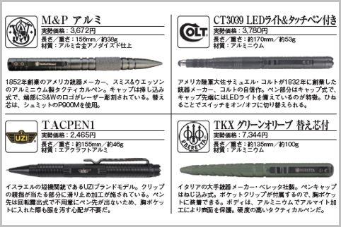 タクティカルペンは銃器メーカー製がカッコいい