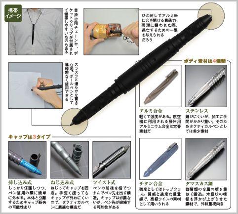 護身具にもなるタクティカルペンを選ぶポイント