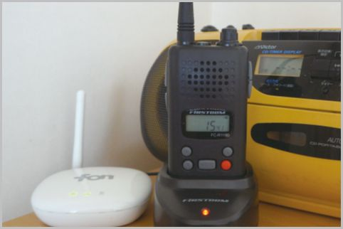 防災ラジオが付いた特定小電力トランシーバー