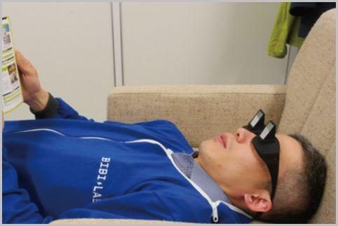 寝ながらスマホに「寝たままメガネ」使ってみた