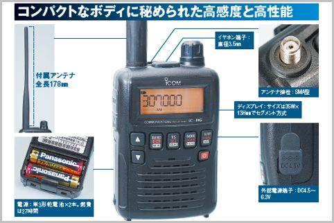 航空無線ビギナーにおすすめの受信機はIC-R6