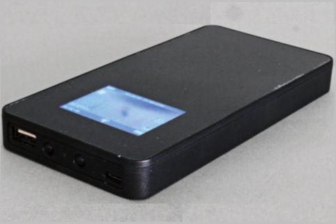 モバイルバッテリー型の監視カメラの赤外線映像