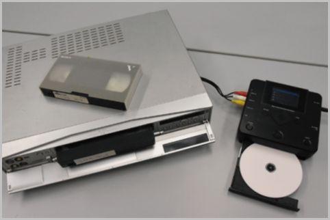 ビデオテープをデッキから直接DVDにダビング
