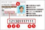運転免許証番号の数字から取得年と場所がわかる