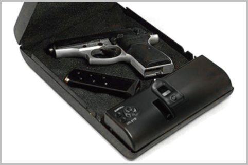 指紋認証ガンケースを貴重品ボックスに使用する