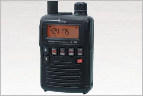 レース無線に適した受信機はアイコムのIC-R6