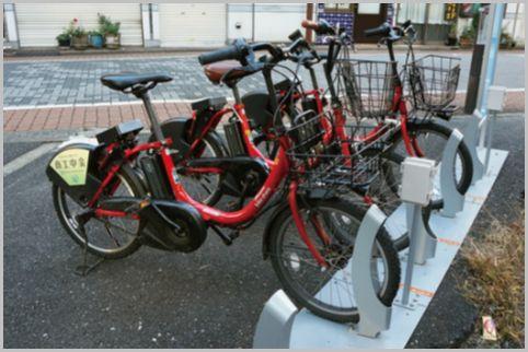 真っ赤なレンタル自転車は月額会員がお得だった