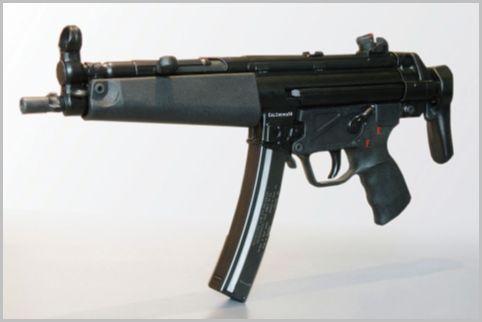 警察の特殊部隊「SAT」は短機関銃も装備する