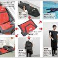 水に浮くシートカバーは寝袋にもなる防災グッズ