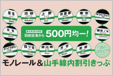 羽田空港からの電車移動がお得になる割引キップ